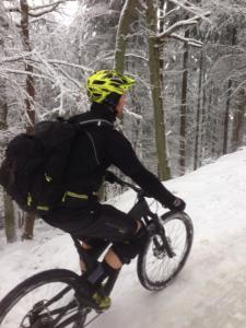 Wintertraining mit dem Enduro im Pfälzer Wald