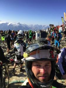 Ein Selfie vorm Start des Hauptrennens